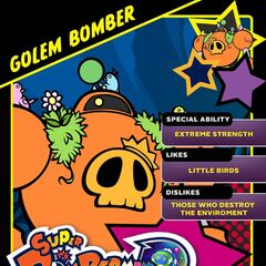 Golem Bomber's <i>Super Bomberman R</i> Profile Card