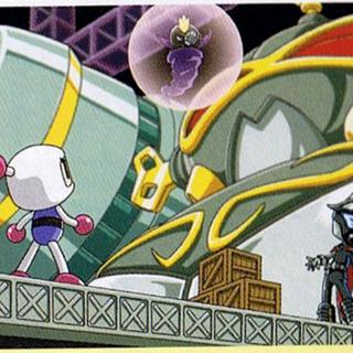 Scene with Brain Bomber from <i>Bomberman Tournament</i>