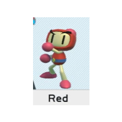 Selecting Red Bomber in <i>Super Bomberman R</i>