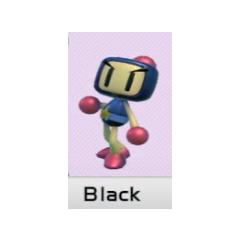 Selecting Black Bomber in <i>Super Bomberman R</i>