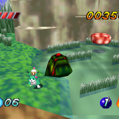 A Louie stage in <i>Bomberman Hero</i>
