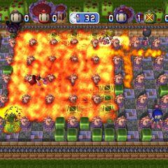 A Dangerous Bomb at maximum power in Bomberman Live