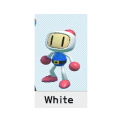 Selecting White Bomber in <i>Super Bomberman R</i>