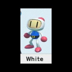 Selecting White Bomber in <i>Super Bomberman R</i>