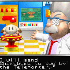 Ein from the intro of <i>Bomberman Max 2</i>