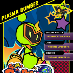 Plasma Bomber's <i>Super Bomberman R</i> Profile Card