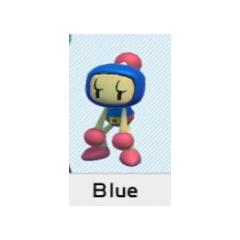 Selecting Blue Bomber in <i>Super Bomberman R</i>
