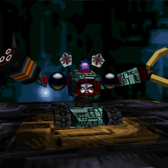 Bagular's Third Form in <i>Bomberman Hero</i> (no shield)
