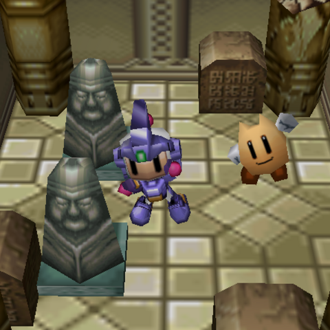 Bomberman with all the Armor