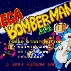 <i>Mega Bomberman</i> title screen