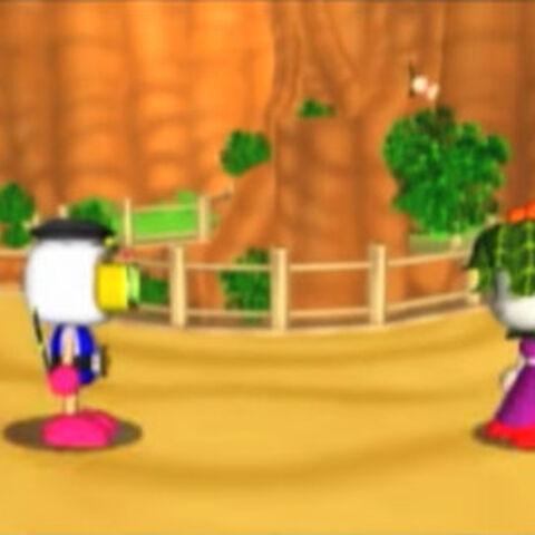 Dark Rose challenging the player