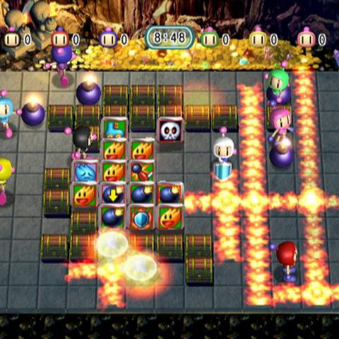 White Bomberman using the Shield