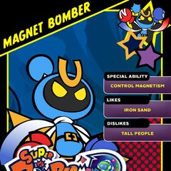 Magnet Bomber's <i>Super Bomberman R</i> Profile Card