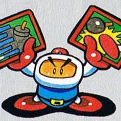 Bomberman holding Items