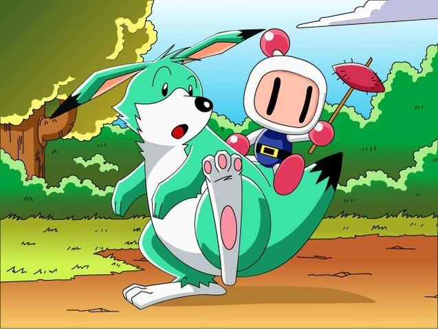 File:Louie and Bomberman.jpg