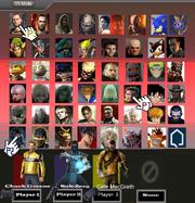 Sony Smash Bros Character Select
