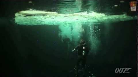 Skyfall James Bond 007 underwater featurette (2012) Daniel Craig Javier Bardem