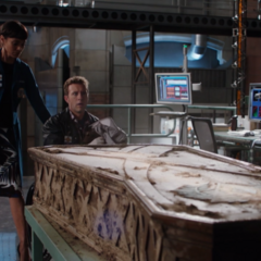 Hodgins unveils The Apprentice's Coffin.