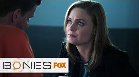 "Brennan Visits Booth In Prison from ""The Conspiracy In The Corps"" BONES FOX BROADCASTING"