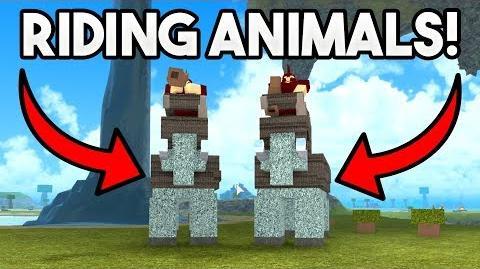 RIDING ANIMALS! ROBLOX Booga Booga