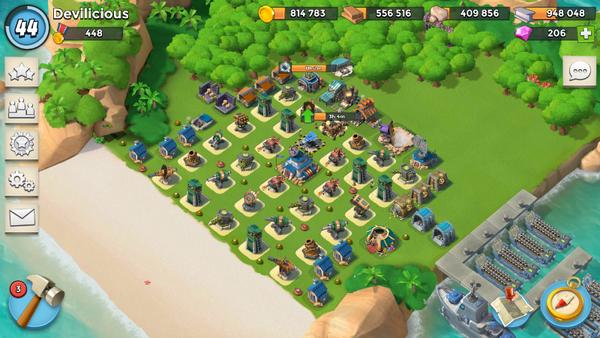 Boom Beach Level 44 HQ 18