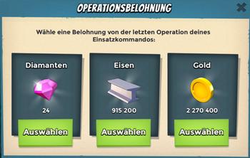 Operationsbelohnung Auswahl