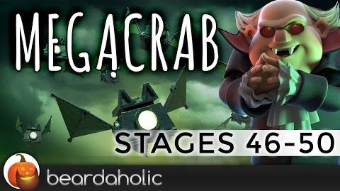 Boom Beach Mega Crab 4.0 Stage 46-50 Fully Boosted Gameplay
