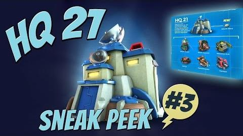 "Boom Beach Update! - Sneak Peek 3 - ""HEADQUARTERS LEVEL 21"" ""HQ 21"" - Exclusive Gameplay!"