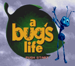 A Bug's Life (MD) Title Screen