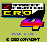 Street Fighter Zero 4 (Jieba Tianwang 4) Title Screen