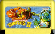 Teenage Mutant Ninja Turtles 2 Golden Gard Cartridge
