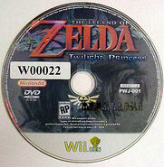 Zelda Twilight Princess Wii Ben Disc
