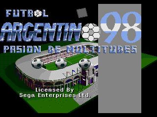 Futbol Argentino 98 - Pasion de Multitudes title screen