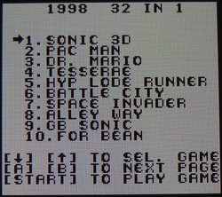 32in1 GB Multicart Menu