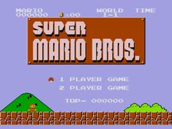 Super Mario Bros. Mega Drive title screen