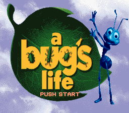 A Bug's Life SNES Title