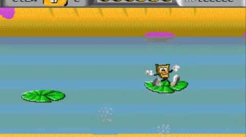 Spongebob (Sega Genesis) - Gameplay (Russian Pirate Hack)