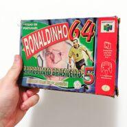 Ronaldinho's Soccer 64 1998 Original Case