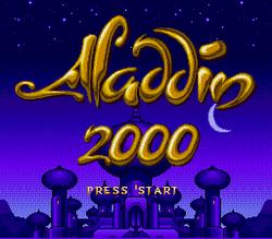 Aladdin 2000 title screen