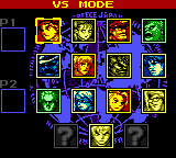 Street Fighter Zero 4 (Jieba Tianwang 4) Select Screen