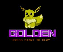Pokemon Golden Title PNG