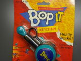 Bop It keychains, pens, and carabiners