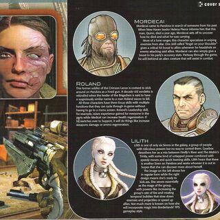 Перші варіанти вигляду персонажів.
