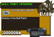 Skill point upgrade item card