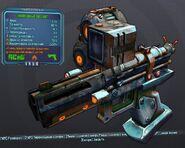 Зел. увеличенный пистолет огонь24