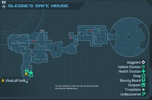 Sledge's Safe House carte