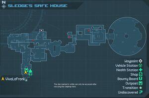 Sledge's Safe House carte