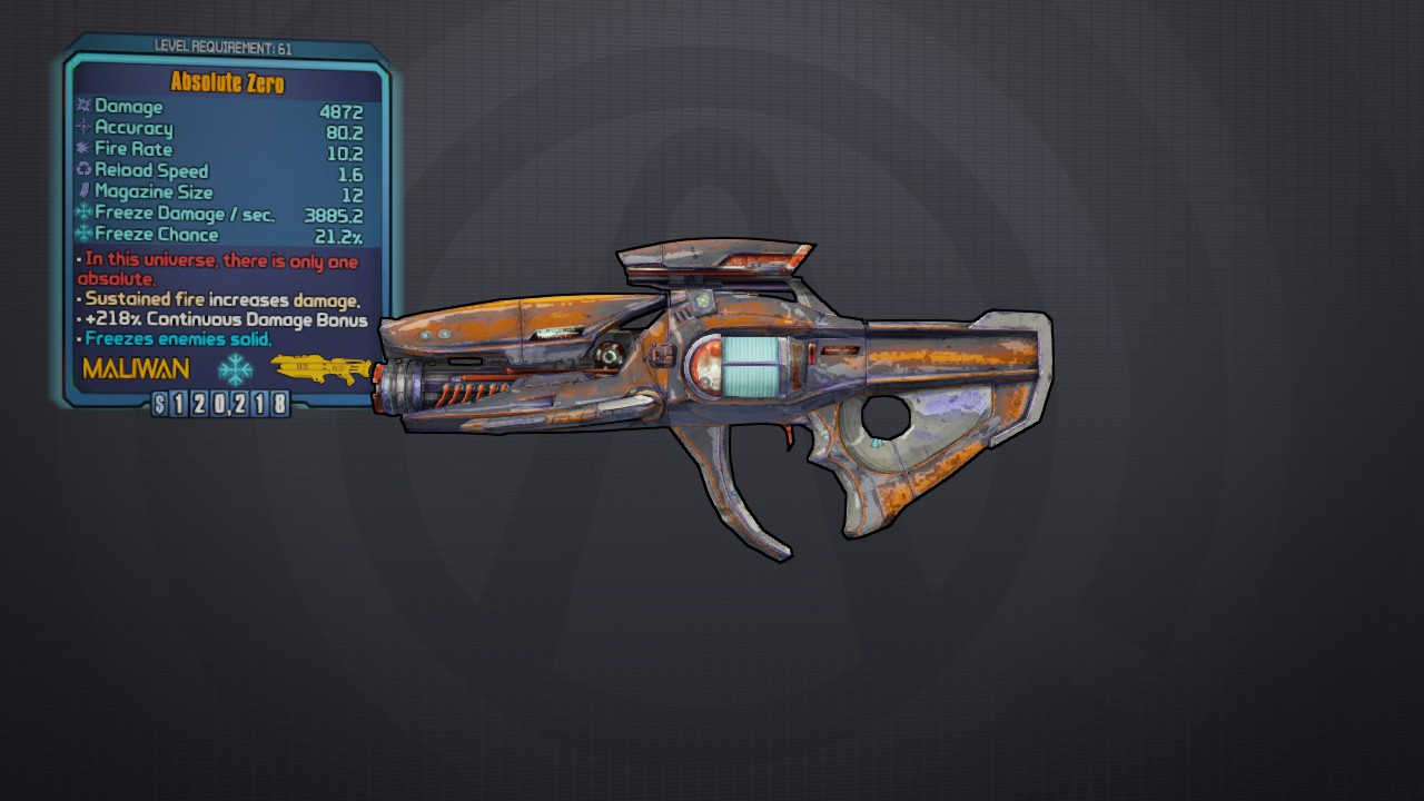 Absolute Zero | Borderlands Wiki | FANDOM powered by Wikia