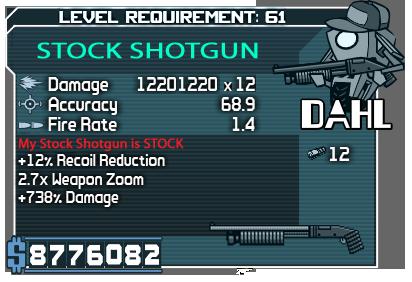 Stock Shotgun UO