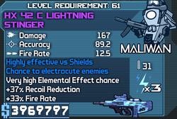 HX 42 C Lightning Stinger OBYC